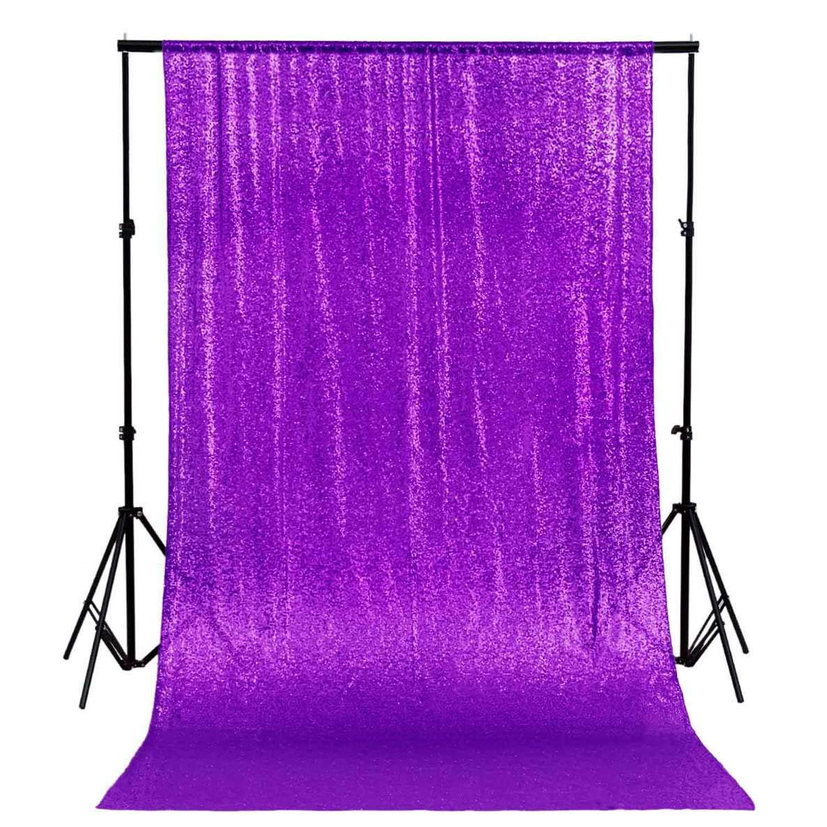ShinyBeauty 20FTx10FT-Purple-Sequin Backdrop, for Party or Wedding Sequin Photo Booth Backdrop,Wedding Backdrop, Photo Backdrop,Glitz Backdrop,Sequin Curtains N1220