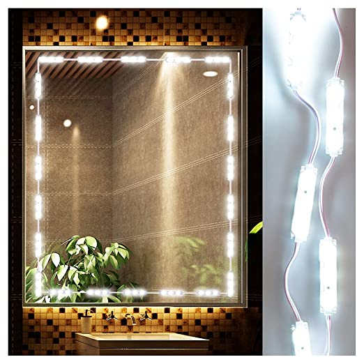 LED Vanity Mirror Lights Kit Ollny Dimmable Lighting Fixture Strip ...