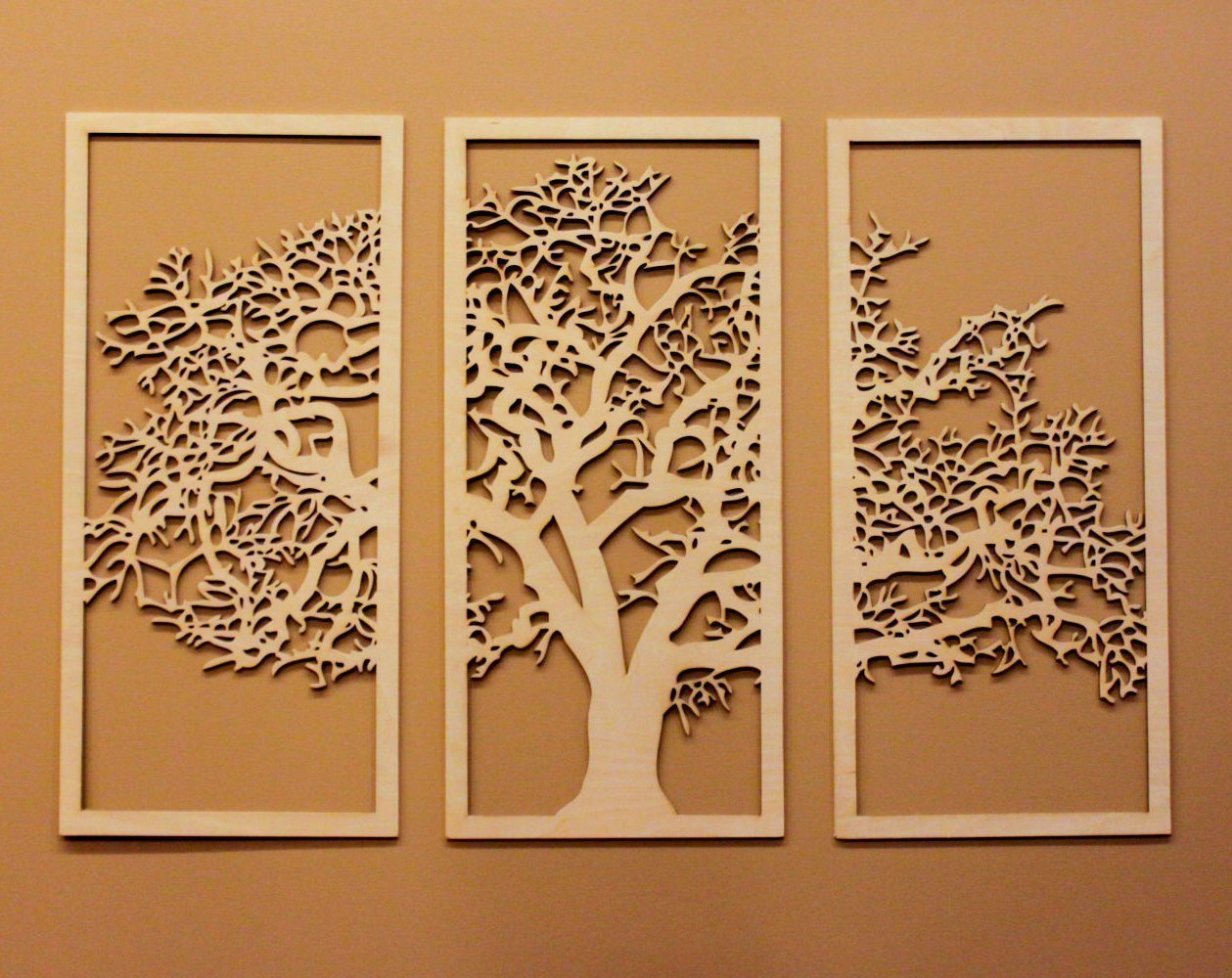 Tree of Life 3D Maple - 3 Panel Wood Wall Art - Beautiful Living Room Decor - 642415474566 | eBay  sc 1 st  eBay & Tree of Life 3D Maple - 3 Panel Wood Wall Art - Beautiful Living ...