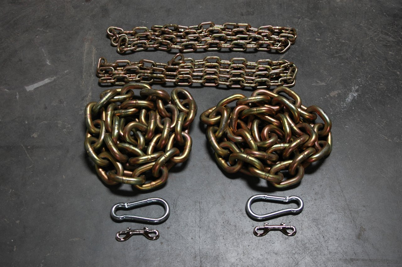 5/8'' & 1/2'' Weightlifting Chain Package - 65.6 lbs - Powerlifting - Crossfit