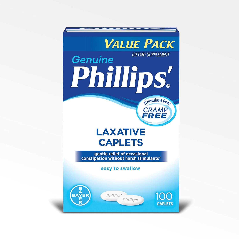 Amazon.com: Phillips Laxative Caplets (100-Count Box): Health & Personal Care