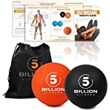5BILLION Massagebälle - Lacrosse Bälle, Mobility Bälle, Spiky Massage Ball - Perfekt für Deep Tissue Massage, Physiotherapie, Myofasziale Freigabe, Akupunkt Massage