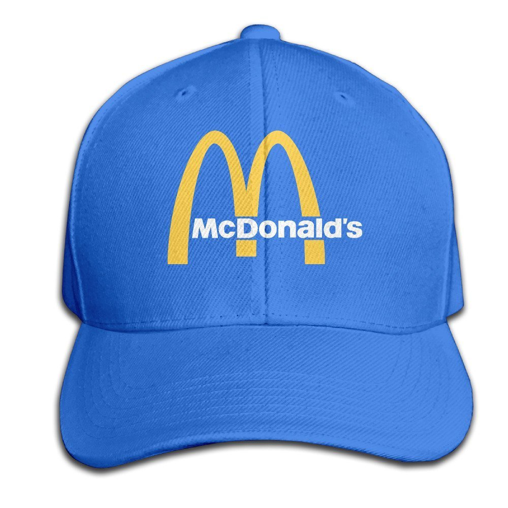 Hittings Traveleat Mcdonalds 90s Logo Unisex Peaked Baseball Cap Snapback Hats Black