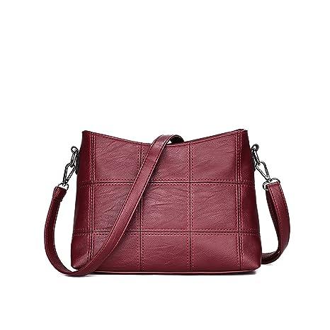 Tisdaini Mujer Bolso Mano Moda Bolsas de Mano de Marca Hombro Bolsa Messenger Bag Cuero de la PU Bolso pequeño