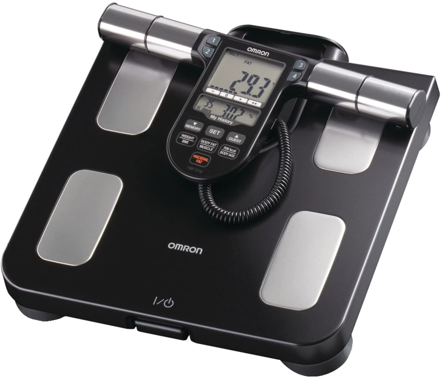 Omron Body Composition Monitor with Scale - 7 Fitness Indicators & 180-Day Memory: Health & Personal Care