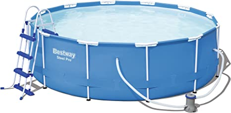 Bestway Steel Pro Piscina desmontable tubular, 366 x 100 cm, 56418: Amazon.es: Jardín