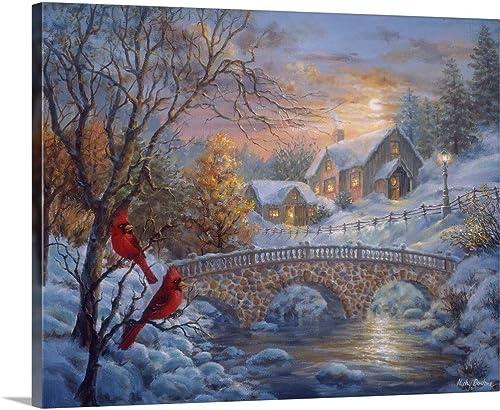 Winter Sunset Canvas Wall Art Print
