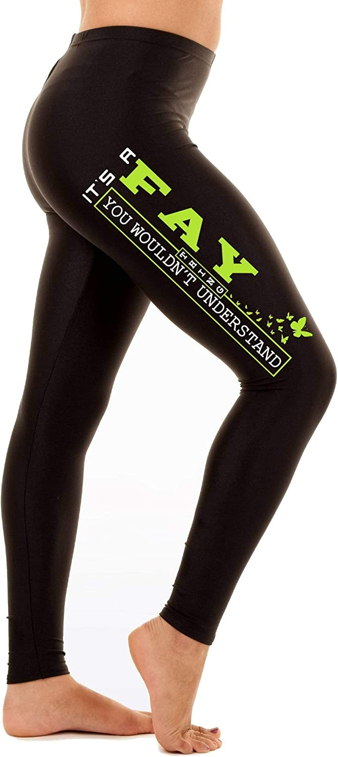 HusbandAndWife St Patricks Day Leggings for Women Its a Fay Thing You Woudnt Understand