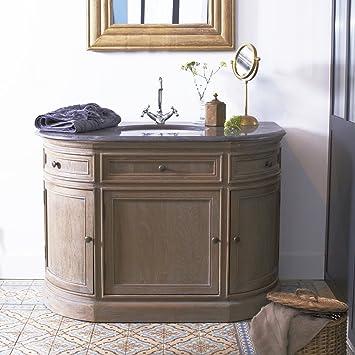Waschtisch Mit Steinplatte waschtisch aus eiche mit integriertem keramik waschbecken