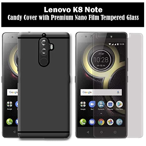 Like It Grab It Combo Of Premium Candy Back Cover With Ultra Flex Tempered  Glass For Lenovo K8 Note