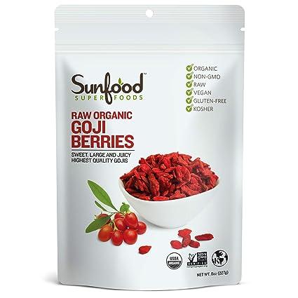 Sunfood Goji Berries 8 Ounce Amazon Com Grocery Gourmet Food