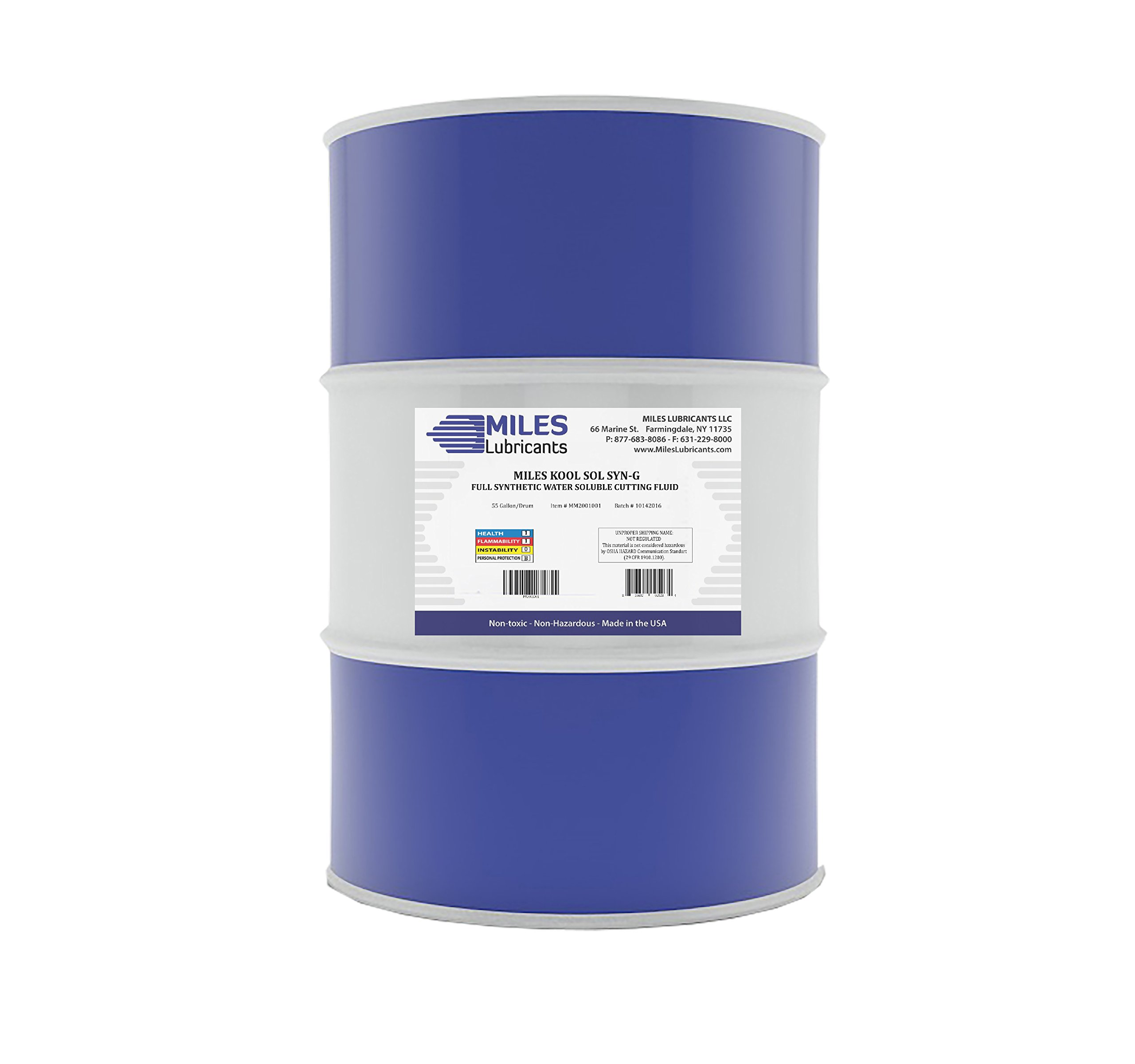 Miles Kool Sol Syn G Full Synthetic Water Soluble Cutting Fluid 55 Gal. Drum