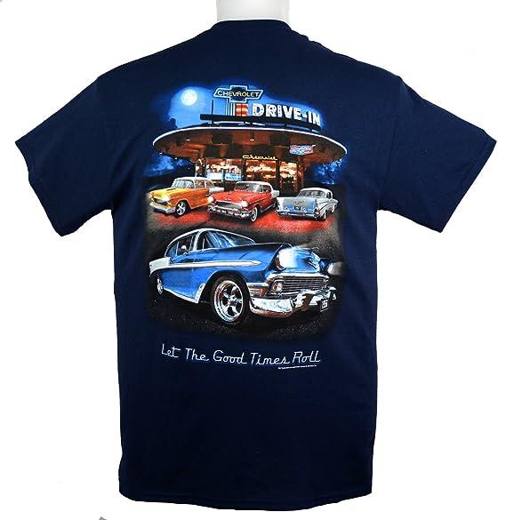 Chevy T Shirts >> 55 56 57 Chevy Bel Air Tri Five T Shirt 100 Cotton Blue By Hot Rod Apparel