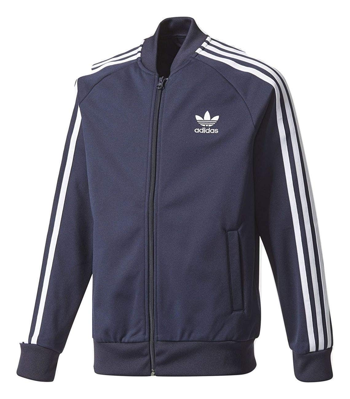adidas Boys SST Track Jacket (Medium) Ink Blue