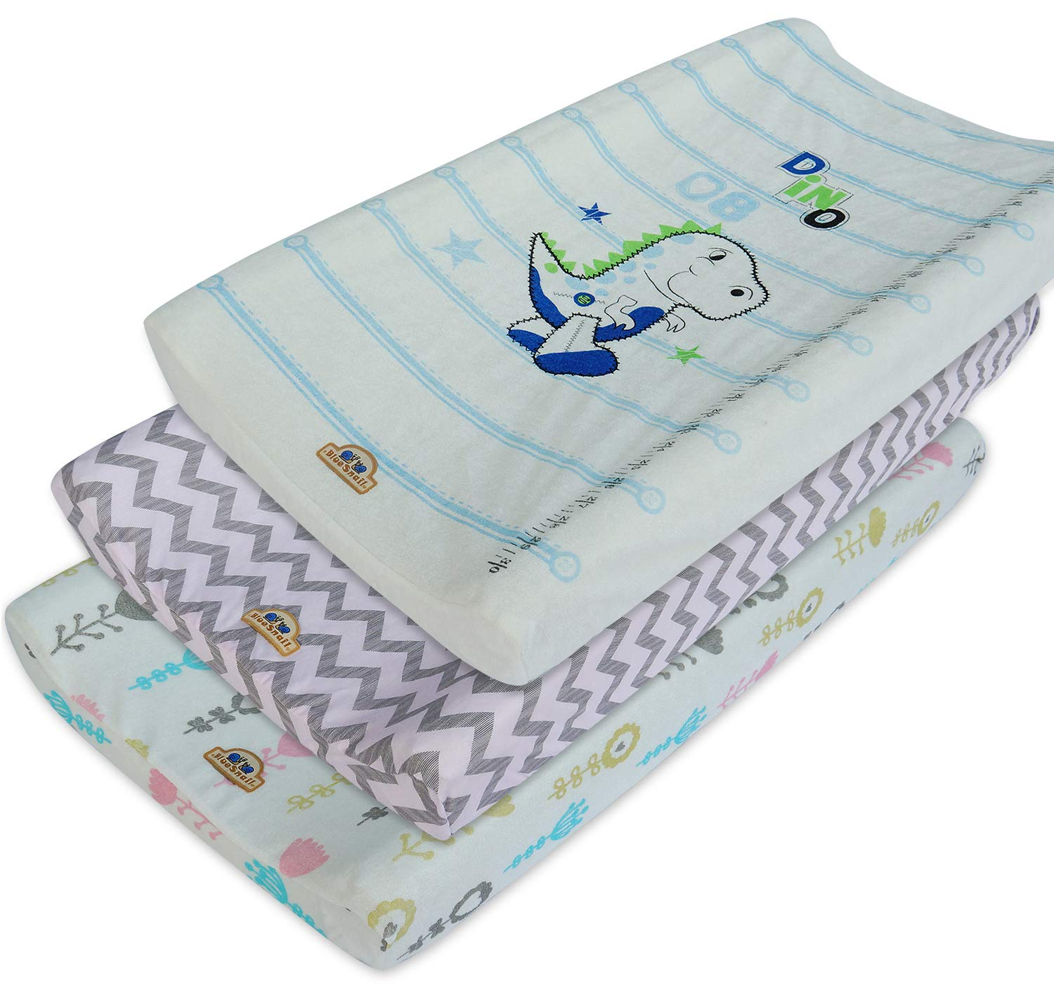 Ultra Soft and Comfty Changing Pad Cover 3pk by BlueSnail (Blue Set) BlueSnial