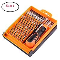 JAKEMY® 33 in 1 Magnetic Screwdriver Set, Precision Screwdriver Kit for PC Phone Computer Electronics Repair