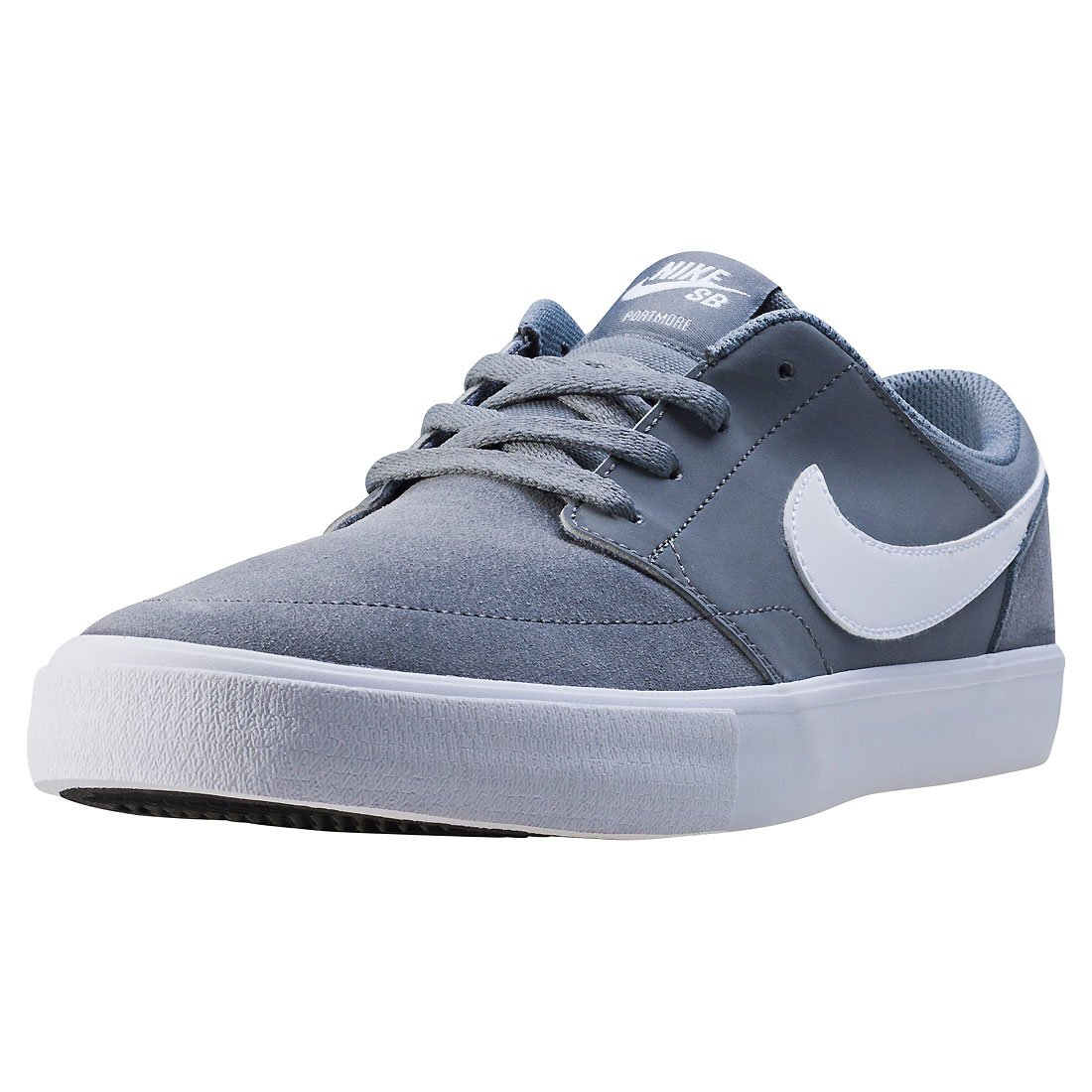 NIKE Men's Sb Portmore Ii Solar Ankle-High Canvas Skateboarding Shoe B01K3II3UW 10 D(M) US|Cool Grey White Black