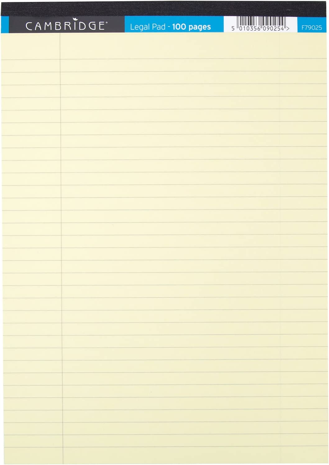 MARGIN F79025 10 CAMBRIDGE YELLOW A4 LEGAL PADS LINED
