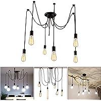 Glighone Lámpara Vintage Lámpara de Techo Lámpara de Araña Industrial Lámpara de…