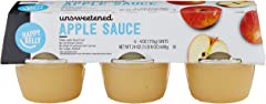 Amazon Brand - Happy Belly Unsweetened Apple Sauce Cups, 4 Ounce (Pack of 6)