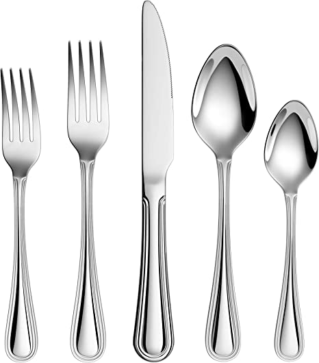 20 Piece 18 10 Stainless Steel Flatware Sets Extra Thick Heay Duty Flatware Service For 4 Flatware Sets