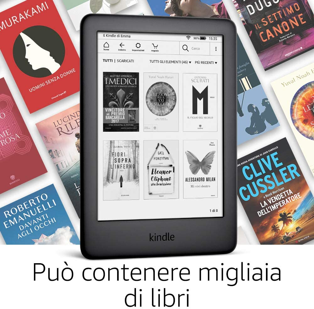 Kindle di Amazon per leggere libri
