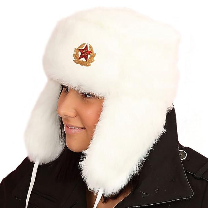 GIZZY® Unisex adultos pelo sintético Ushanka Trapper sombrero con Ruso  Badge  Amazon.es  Ropa y accesorios bd2167202f1