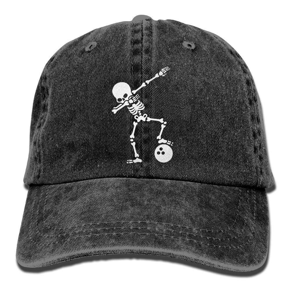 Gorra de b/éisbol de Mezclilla Ajustable Unisex Dab Esqueleto Dabbing Casquillo de la Bola de Bolos Multicolor94