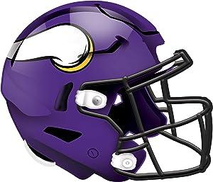 Fan Creations NFL Minnesota Vikings Unisex Minnesota Vikings Authentic Helmet, Team Color, 12 inch