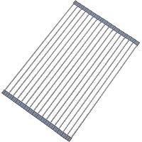 Lictin Foldable Roll-up Dish Drying Rack (Gray)