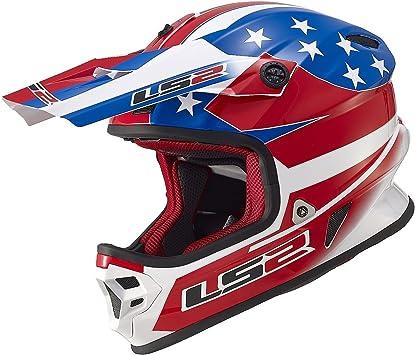 Amazon.com: LS2 Cascos Light US Bandera Off-Road MX Casco ...