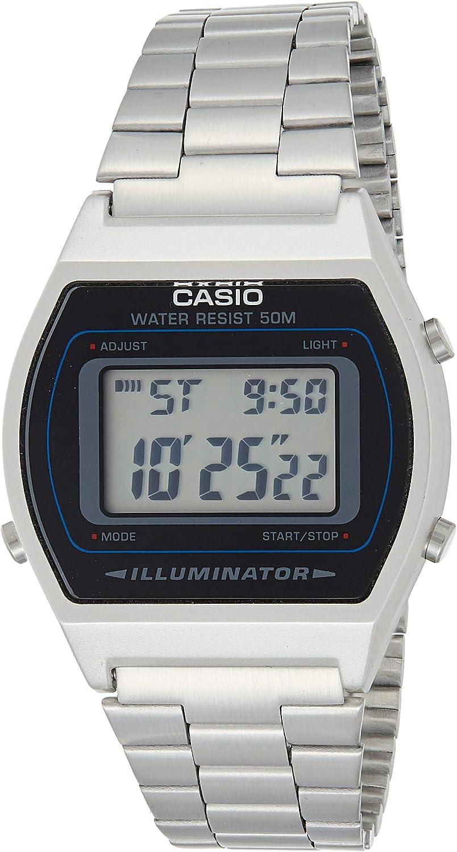 Casio Reloj Digital para Unisex Adultos de japonés con Correa en Acero Inoxidable B640WD1A