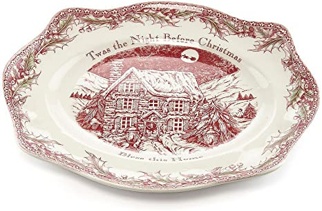 Johnson Brothers Twas The Night Bless This House Round Tray Amazon Ca Home Kitchen