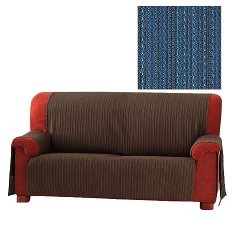 Jarrous Funda Cubre Sofá Práctica Modelo Erika, Color Azul (C/03), para 1 Plaza