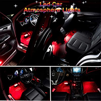 Car Interior Lights,GOADROM Car Interior Atmosphere Neon Lights Strip for Car undercar lights with remote,Waterproof Glow Neon Light Strips Decoration Light Lamp(Red)…: Automotive
