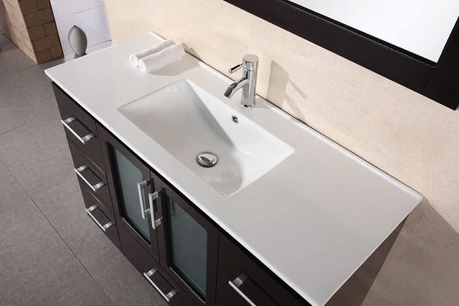 Design Element Stanton Single Drop In Sink Vanity Set With Espresso Finish,  32 Inch   Bathroom Vanities   Amazon.com