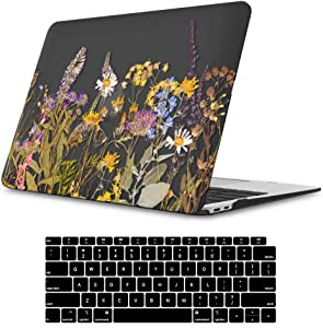 iLeadon MacBook Air 13 Inch Case 2020 2019 2018 Release A2179 A1932, Soft Touch Ultra Thin Hard Shell Cover for Apple Newest MacBook Air 13 Inch with Retina Display fits Touch ID, Summer Flowers