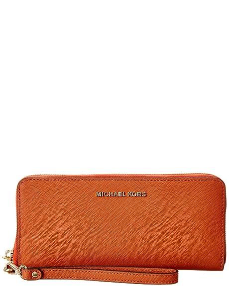 e84bb2da8f MICHAEL by Michael Kors Jet Set Travel Arancione Portafoglio one size  Arancione: Amazon.it: Scarpe e borse