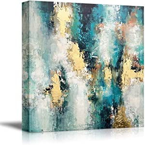 SIGNFORD Canvas Wall Art for Living Room,Bedroom Home Artwork Paintings Abstract Picture Ready to Hang - 24x24 inches