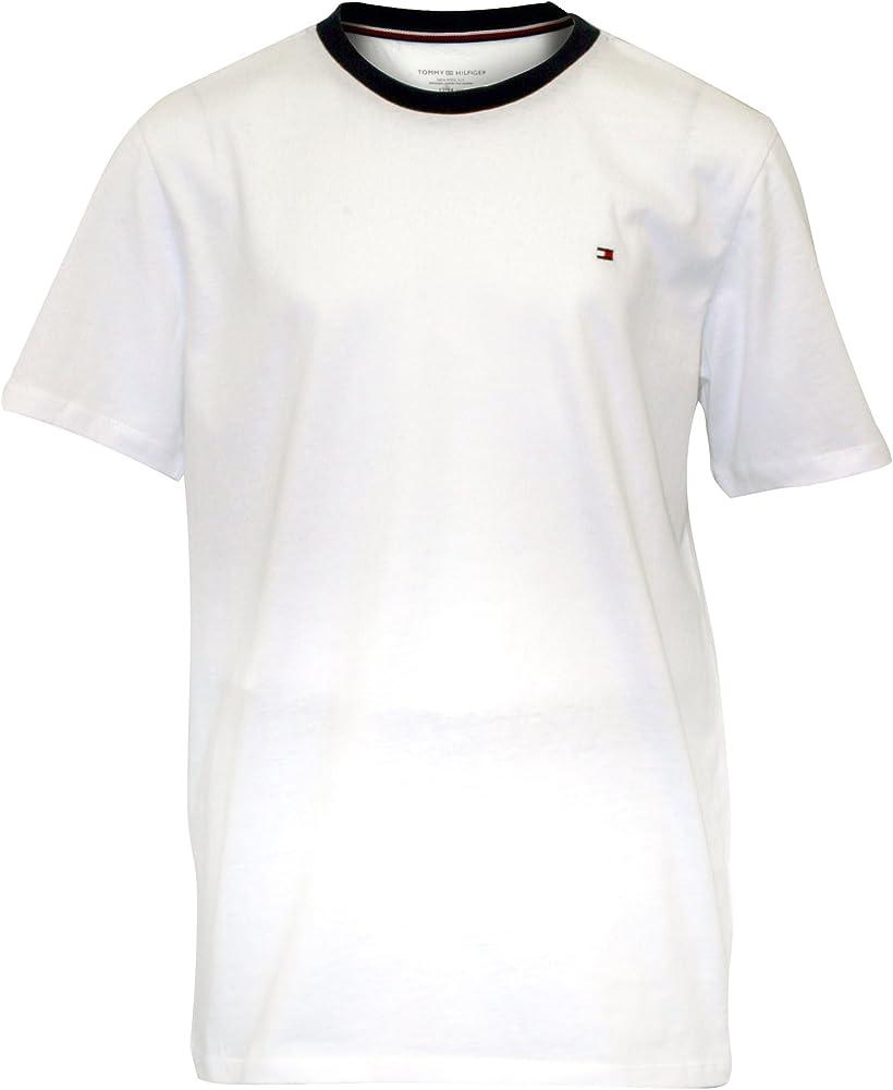 Tommy Hilfiger Jersey Camiseta Y Tejido Rayas Shorts Chicos Pijamas Set De Regalo, Blanco Y Azul 12-14 Años: Amazon.es: Ropa y accesorios