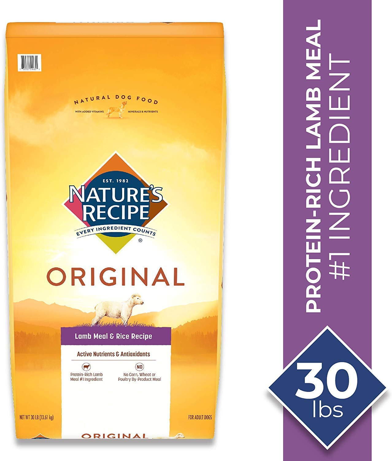 Nature's Recipe Lamb Meal & Rice Recipe Dry Dog Food for Adult Dogs, 30 Pounds by Nature's Recipe