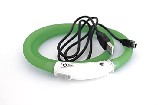 4 opinioni per USB Collare di silicone LED Collare per cane Collare luminoso per cane gatto