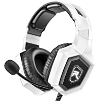 RUNMUS Gaming Headset for PS4, Xbox One, PC Headset w/Surround Sound, Noise Canceling Over Ear Headphones with Mic & LED…
