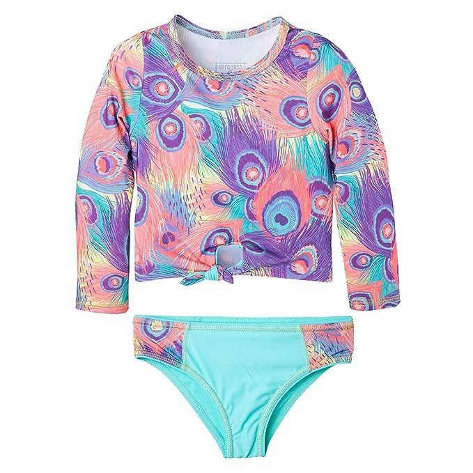 OFFCORSS Big Girl Long Sleeve Rashguard UV Protection | Traje de Baño para Niñas