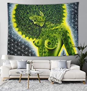 Beauty green marijuana weed leaf Wall Tapestry Hippie Art Tapestry Wall Hanging Home Decor Extra large tablecloths 60x90 inches For Bedroom Living Room Dorm Room