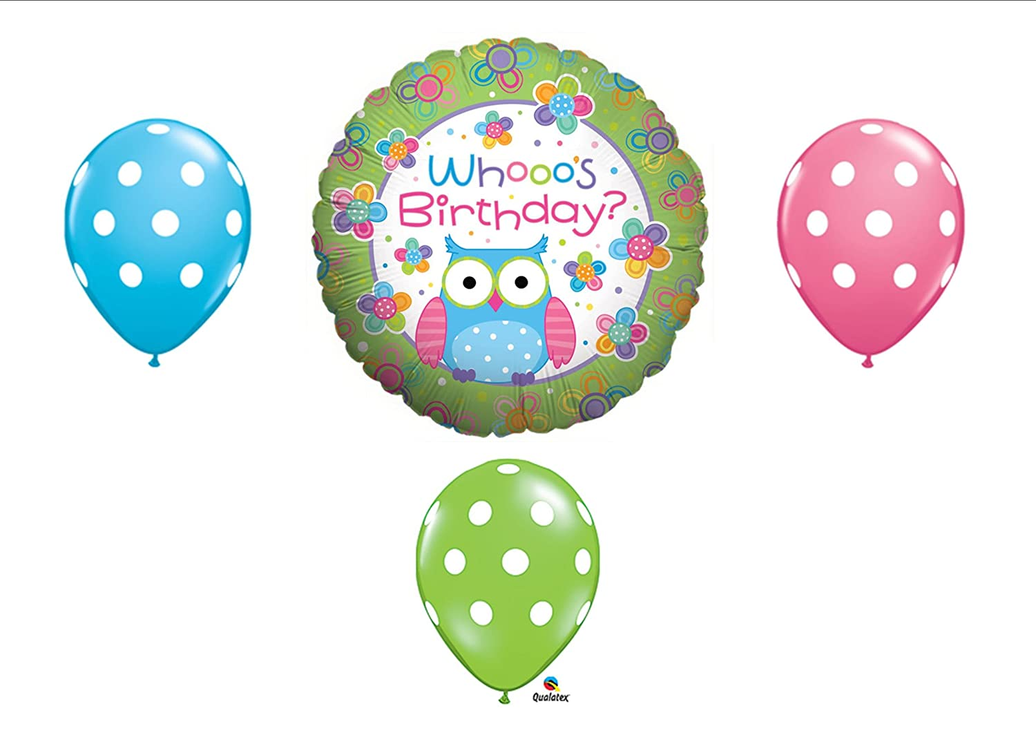 Amazon.com: Whooo\'s Birthday OWL PARTY Balloons Decorations Supplies ...