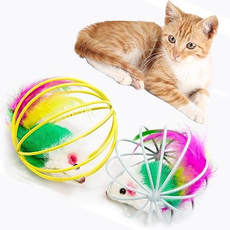 Juguetes de pelotas de gato lleno de ratón entretener juguetes para gatos