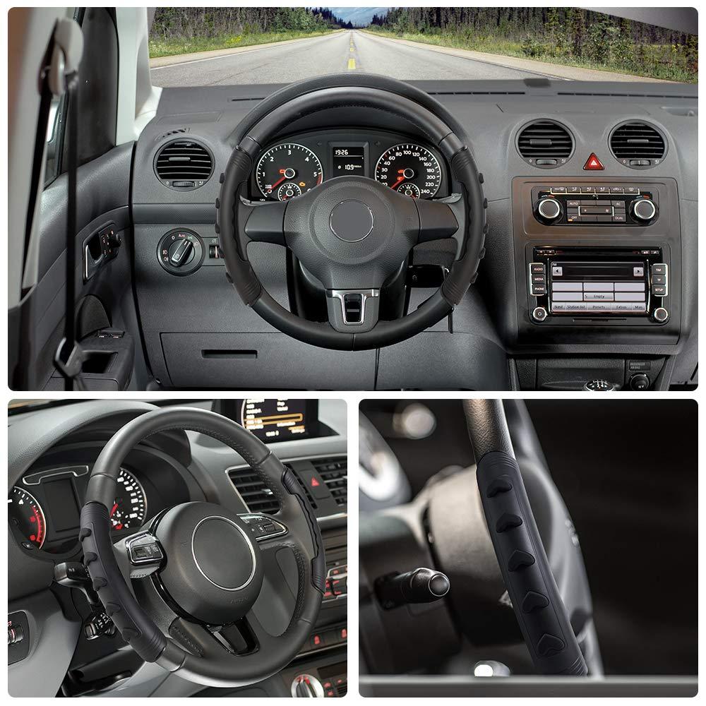 Fahrzeuglenkrad Booster Lenkradh/ülle Anti-Rutsch Jevogh GR50 Auto Lenkradh/ülle Lenkradabdeckung mit Drehknopf und Bedienkomfort f/ür sicheres Fahren einfache Montage mit Einhandbedienung