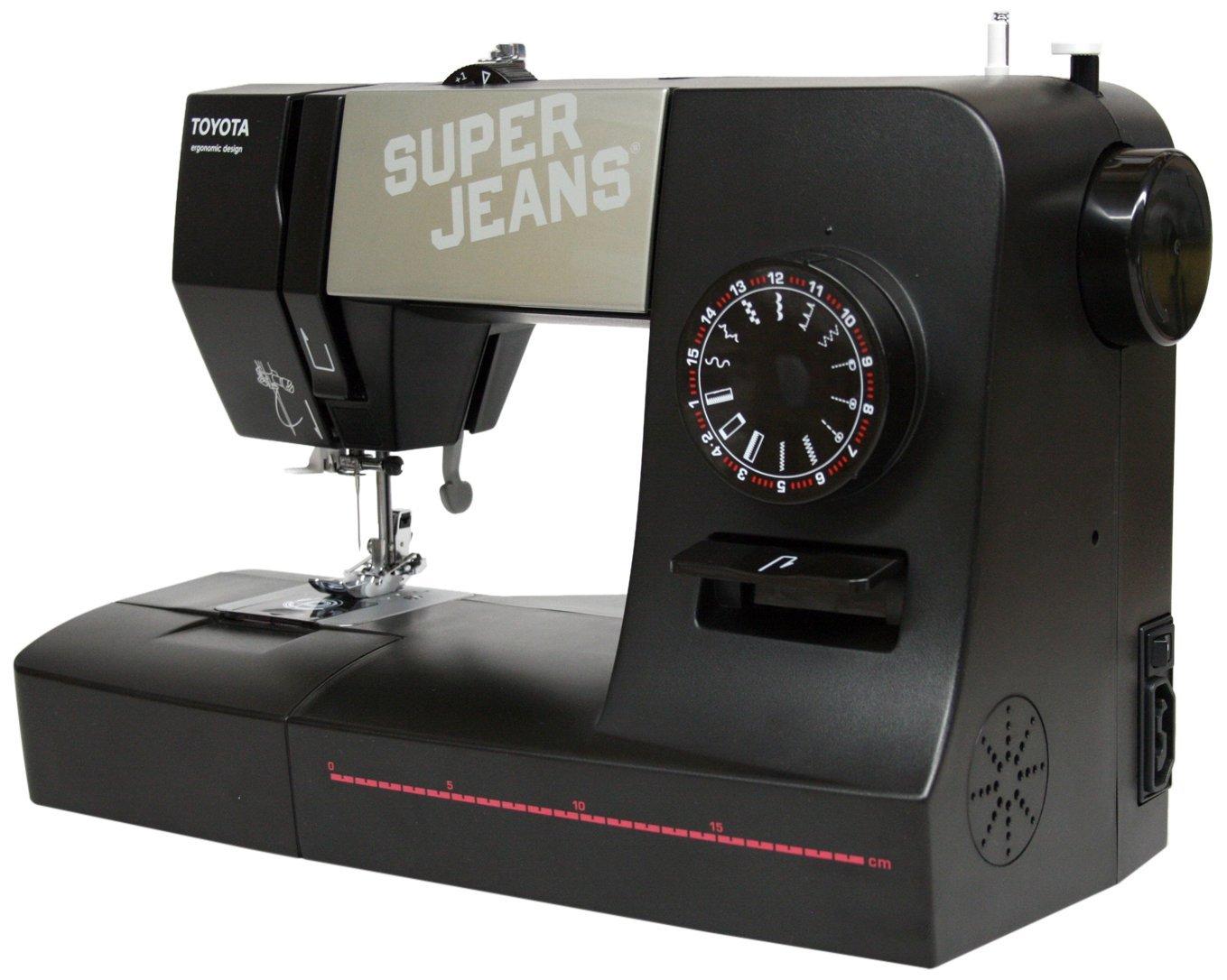 Toyota 15B Super Jeans Sewing Machine, Black SUPERJ15