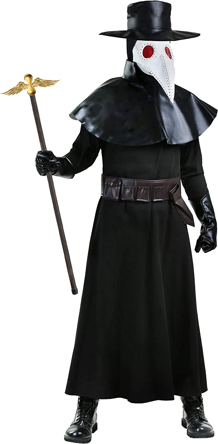 Death Costume With Mirrored Mask Mens Halloween Fancy Dress Costume NEW